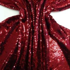 Sequins On Jersey Fabric Red Full And Juicy