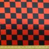 Satin Print Fabric Harlequin Black Red