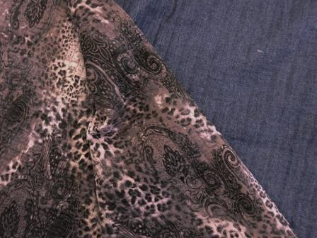 Quilting Fabric With Patterned Backing