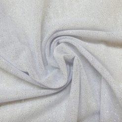 white stretch glitter mesh