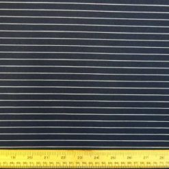 Navy Jersey Fabric White Stripe