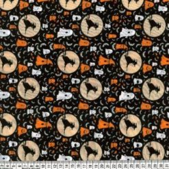 Halloween Fabric Ghost Polyester Cotton Fabric