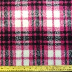 Pink Check Tartan Coating Fabric
