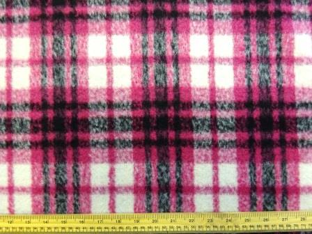 Pink Check Tartan Coating Fabric