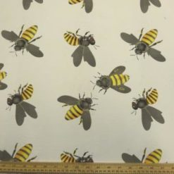 Crepe De Chine Bee Fabric