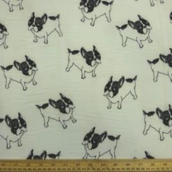 Puppy Dog Crepe De Chine Fabric