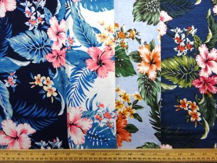 T-Shirting Fabric Tropical Hula