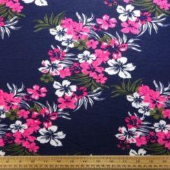 T-Shirting Fabric Floribunda Pink