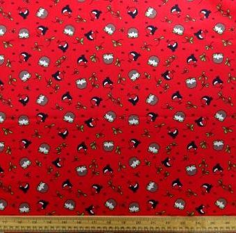 Christmas Robin Pudding Red
