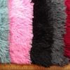 Faux Fur Fabric Spaghetti Soft Long Hair available in black, pink, green and wine