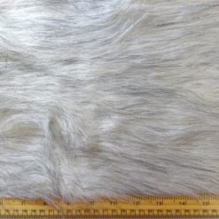 Faux Fur Fabric Long Haired Two Toned Yetti White Mountain