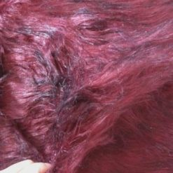 Faux Fur Fabric Long Haired Wine Vampire