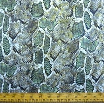 Reptile Slither Faux Leather Khaki Green