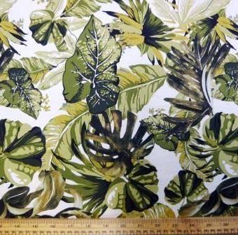 Seychelles Leaf Cream/Khaki Crepe de Chine