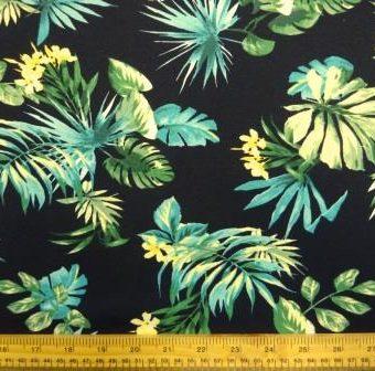 Rio Leaf Dahlia Black Crepe