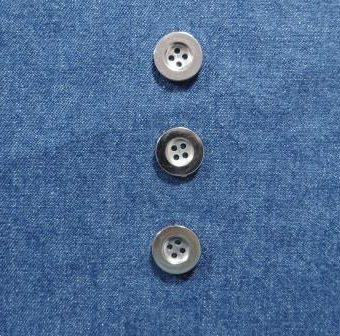 Saxe Blue Stone Washed Mill Dyed Denim (with silver buttons)
