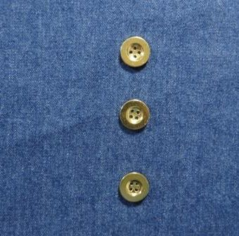 Saxe Blue Stone Washed Mill Dyed Denim (with gold buttons)